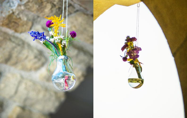 Hanging Lightbulb Flower Vases