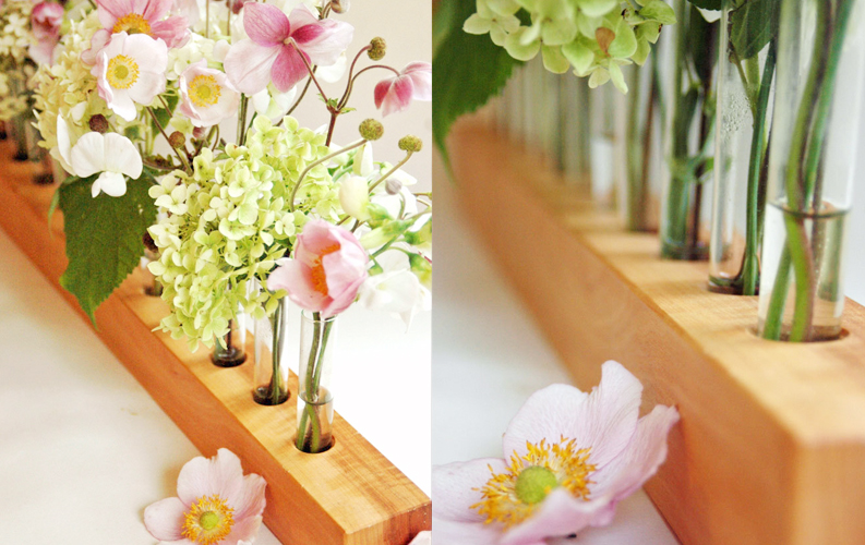 wood vase for wedding romantic - 2